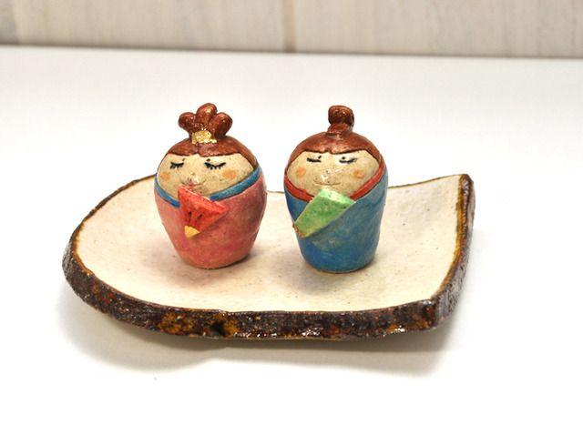 おひなさま(手作り陶器のひな人形)