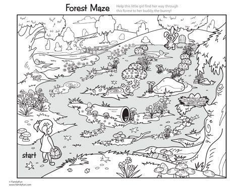 Sweet Springtime Maze amp Coloring Page Printable Activity