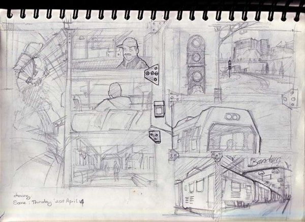 drawing in st.hall bandung