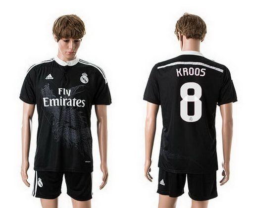 2017 18 children youth real madrid away soccer jersey shorts set s. real madrid third away 8 kroos soccer jerseys 14 15 season black