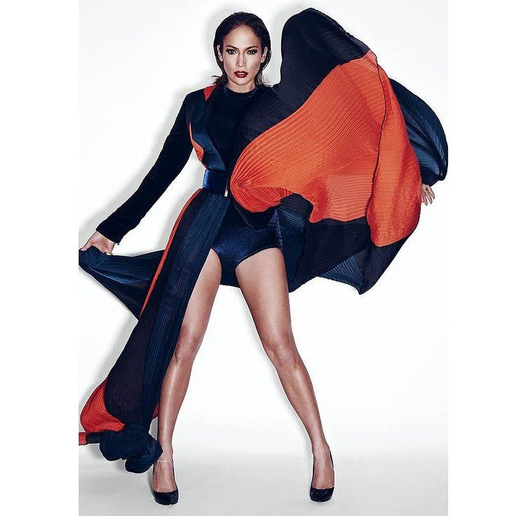 Jennifer Lopez wearing Balmain photographed by Nicolas Moore.