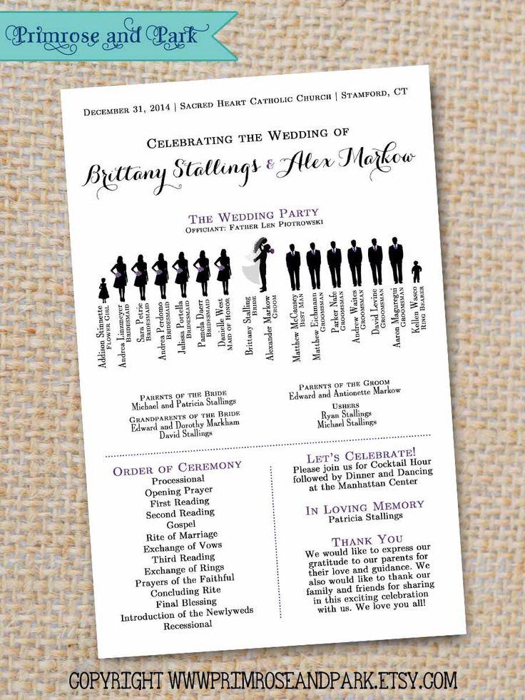 The 25+ best Wedding program samples ideas on Pinterest - wedding agenda sample