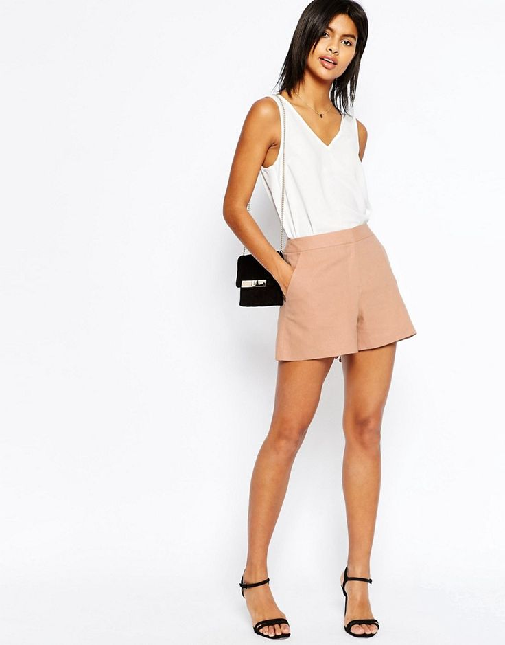 ASOS Tailored A-Line Short in Linen