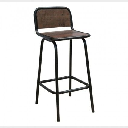 Bar chair or industrial bar stool with back