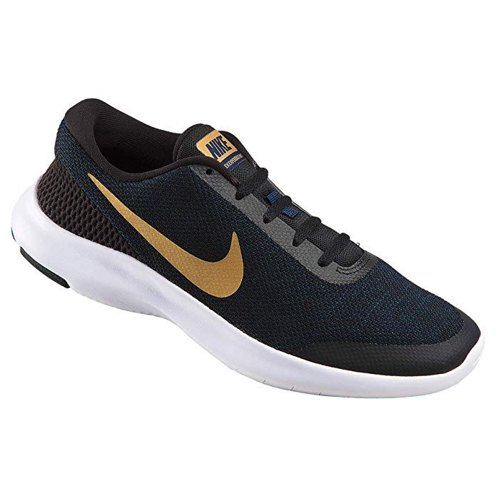 abf920f4f59 NIKE Women s Flex Experience RN 7 Running Shoe Black Metallic Gold Obsidian  White