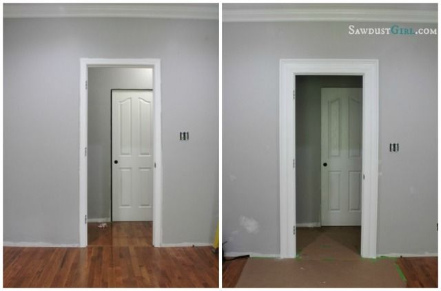 Layered door and window trim molding.  Adding to existing trim makes a huge visual impact!