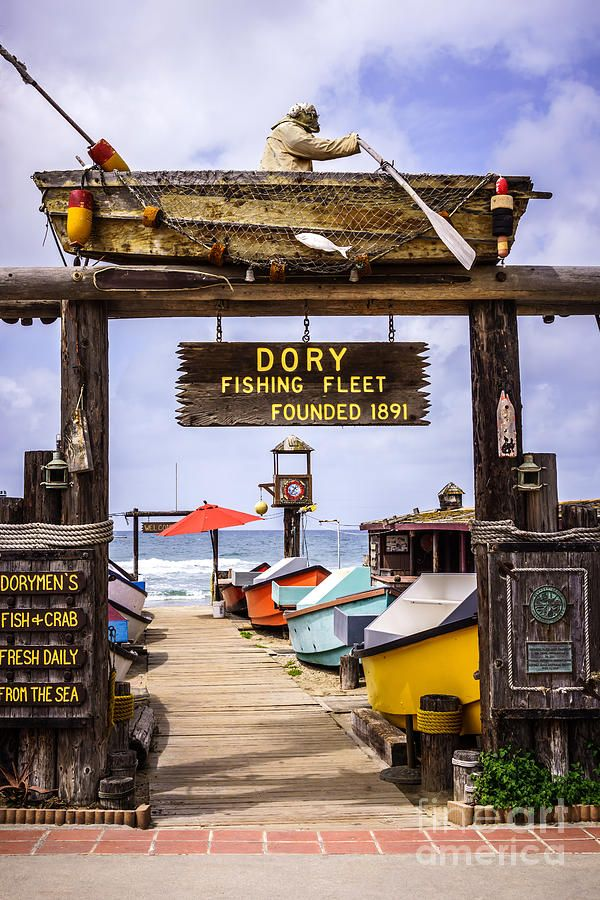 Dory Fishing Fleet Market Newport Beach California Photograph by Paul Velgos - Dory Fishing Fleet Market Newport Beach California Fine Art Prints and Posters for Sale