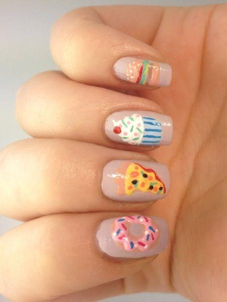25+ Best Ideas About Food Nail Art On Pinterest