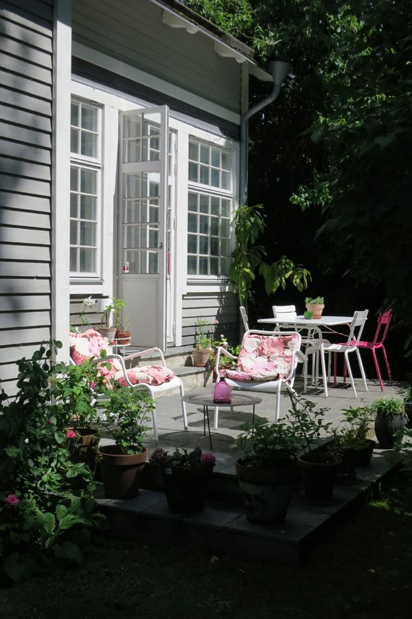 Pretty in pink with Luxembourg dining chairs and low arm chairs.