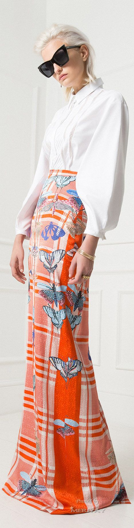 Color fashion Glam                                        Temperley London Resort 2015.