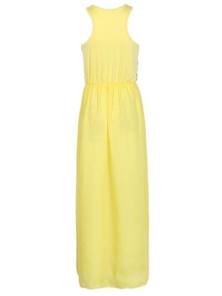 2ed0d64d5df Yellow Tribal Print Sleeveless Maxi Dress - Jassie Line - 3