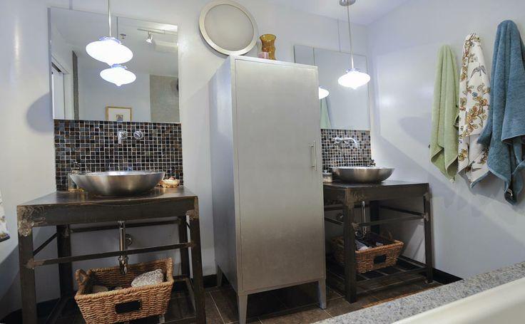 Industrial Style Bathroom #hoboken