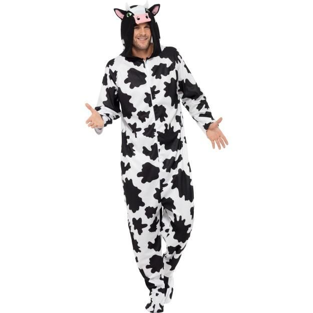 Men's Cow Onsesie Costume