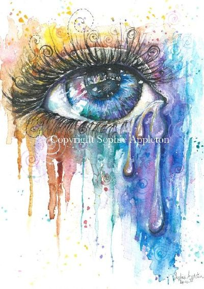 On the Art 4 SALE page, watercolour eye fine art print £13.95 from UK post worldwide. Eye Color Love by Sophie Appleton Artist www.sixfootsophie.co.uk