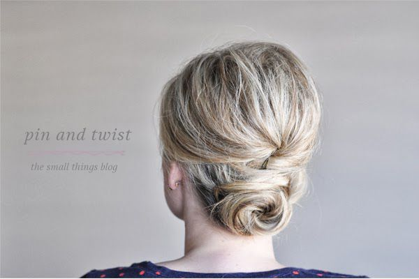 Pinned and Twisted Hair Tutorial