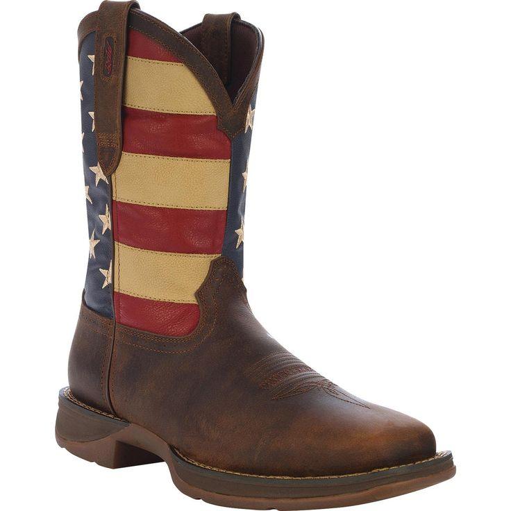 Durango Mens Teal Boots Rebel 11 Inch Pull On Mahogony