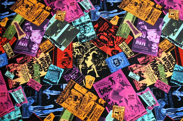 reserved fabric vintage retro horror movie poster ticket