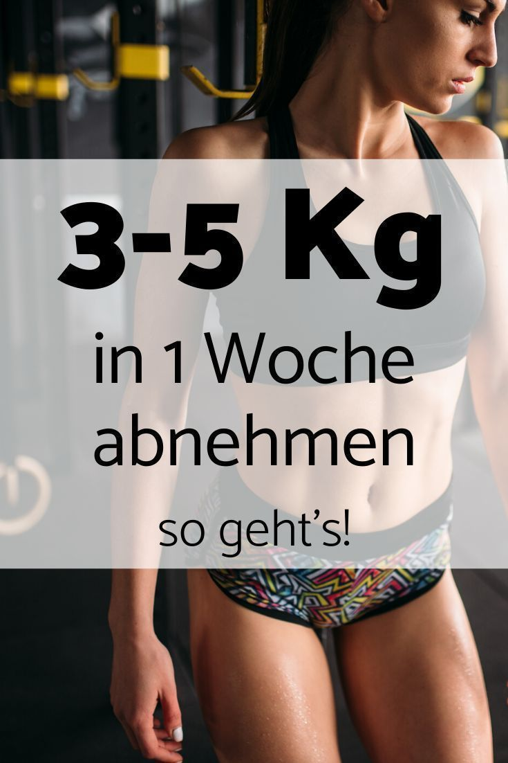Wie man 5 Kilo in einer Woche mit Bewegung verliert