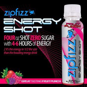 Zipfizz® Fruit Punch Energy Shot, 24 Bottles