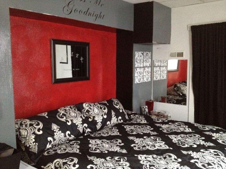Red Black Gray Bedroom