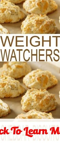 Cheddar Biscuits Weight Watchers Recipes to help you stay on track with your diet plan, New Years resolutions, and weight loss goals. #health #fitness #weightloss #healthyrecipes #weightlossrecipes