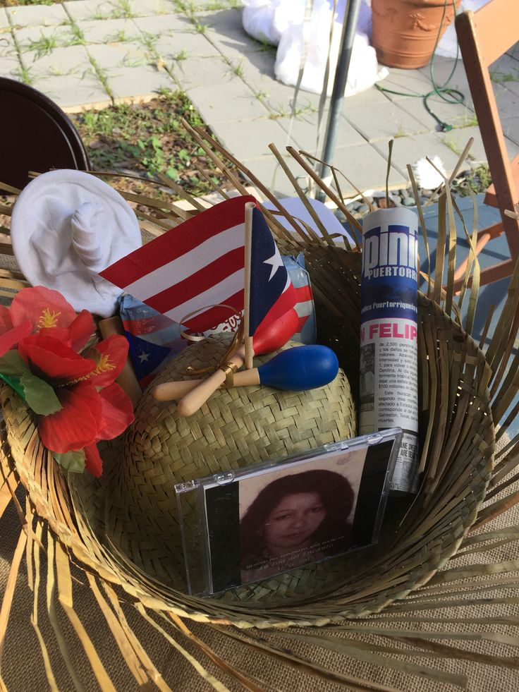 Centerpieces for my moms Puerto Rican themed party.