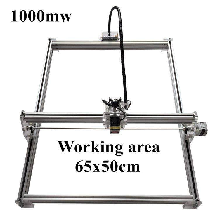 175.00$  Watch now - http://alitrg.worldwells.pw/go.php?t=32768597523 - 1000mW Mini desktop DIY Laser engraving engraver cutting machine Laser Etcher CNC print image of 50 X 65 cm Laser Engraver