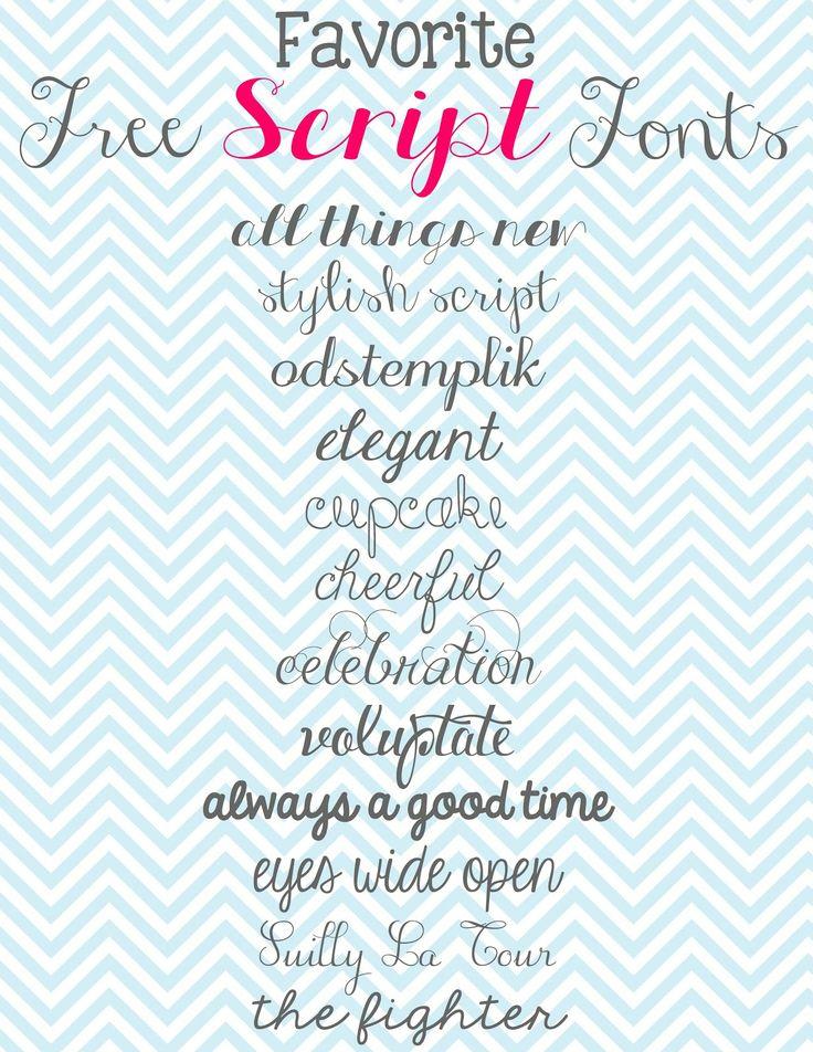 Scrivere anche solo una frase con un bel font calligrafico spesso fa la differenza...e poi ce ne sono proprio per tutti i gusti!