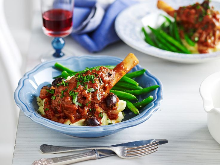 Slow cooked to tender perfection, Julie Goodwin's wonderful lamb shank cacciatore is gorgeous served with creamy mashed potato to create a warming family dinner.