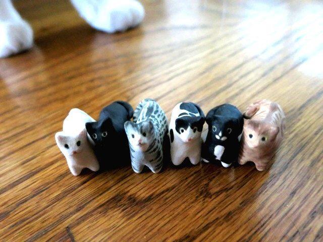 Keramische miniatuur kat sculptuur huisdier kat keramische dierlijke Totem kat minnaar cadeau kleine kat Gift miniatuur dierlijke beeldje kat Decor Pocket dier door ChikoCraft op Etsy https://www.etsy.com/nl/listing/193481169/keramische-miniatuur-kat-sculptuur