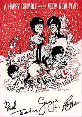 45 best the beatles navidad images on pinterest xmas the beatles happy crimble beatles cartoon as seen on an early christmas greeting to their fans m4hsunfo Choice Image