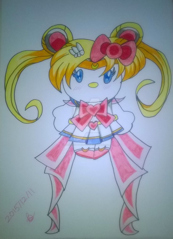 Sailor Moon Hello Kitty CLOSE!! by GlindaIvyTheWitch.deviantart.com on @DeviantArt