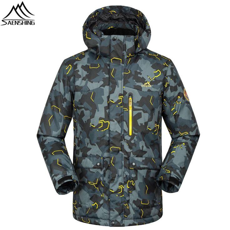 Saenshing -30 degree warm ski jacket men winter waterproof snow jacket breathable Camo outdoor skiing jacket men ski clothing #Affiliate