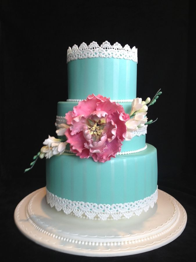 Peony, Pearls and Lace    .First Place in Sweet Times in the Rockies 2013  Celebration Cakes, Advanced Adult Division