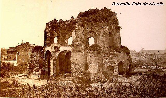 1896 FORMA URBIS ROMAE, Villa Magnani g, 1860 Horti Magnan e Tempio de Minerva Medica b