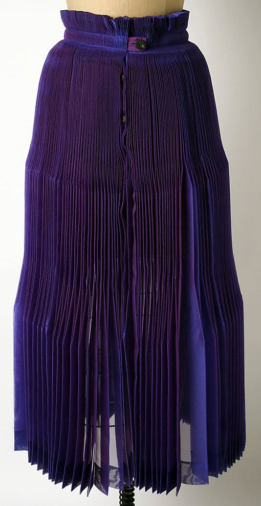 Skirt, Issey Miyake, Miyake Design Studio, 1992-93, Japanese, polyester