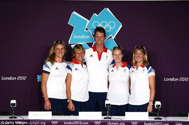 Part of the team: Tina Cook, Mary King, William Fox-Pitt, Zara Phillips and Nicola Wilson form the Great Britain Equestrian team