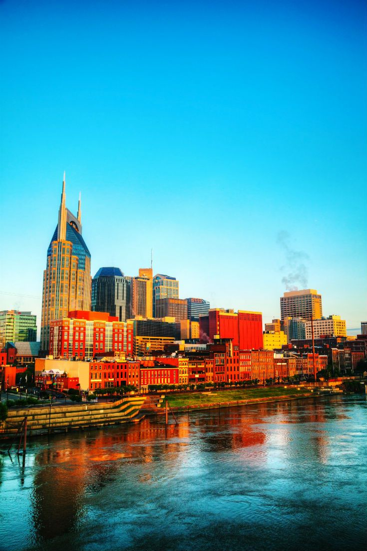 The skyline of downtown Nashville. #Nashville #Tennessee #USA #Skyline