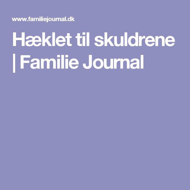 Hæklet til skuldrene | Familie Journal