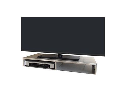 Tabletop TV Stand for Flat Screen Available in Black, White & Brushed Aluminum