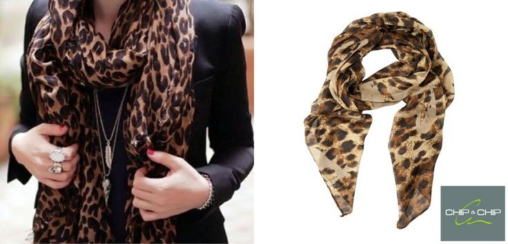 Leopard print scarf is a must-have item for a super stylish look!!!