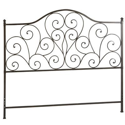 Scroll Queen Headboard - Black. Love this! I think it would also be pretty in a garden!