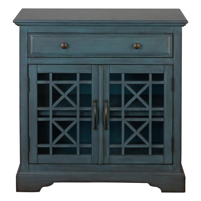 Craftsman Accent Chest in Antique Blue | Nebraska Furniture Mart