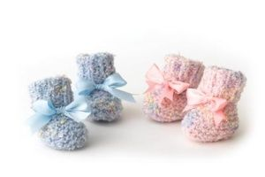2-needle #knitted Baby Booties: To use with the extra Watercolor yarn