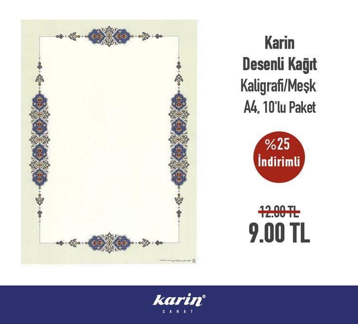 Karin Sanat Fırsatları Desenli Kaligrafi/Meşk Kağıdı http://bit.ly/2hItCmz  #MeşkKağıdı #KarinSanatMalzemeleri #Hat #Kaligrafi #Meşk #art