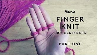 Finger Knit Blanket (or wide scarf) How to connect (with Closed Captions CC) - YouTube