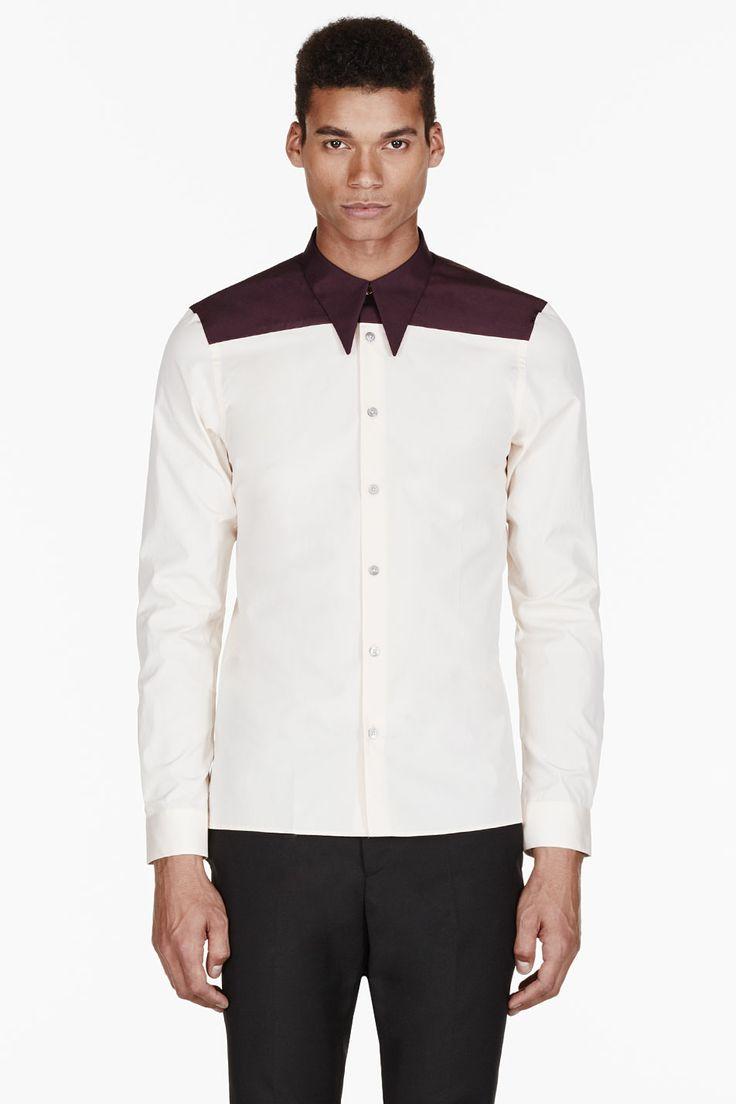 PAUL SMITH  Peach COLORBLOCKed shirt