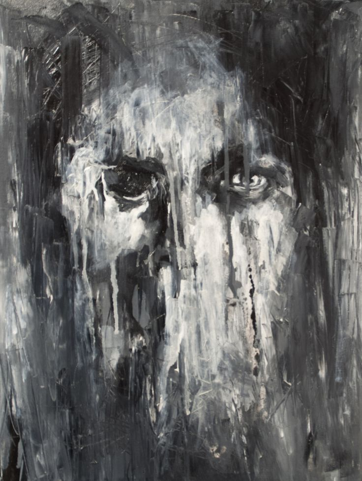 New artwork of new artist. 'Portret in penumbra' by Ana-Maria Manolache Oil on canvas; 50 x 70 cm.  www.studentartworks.org