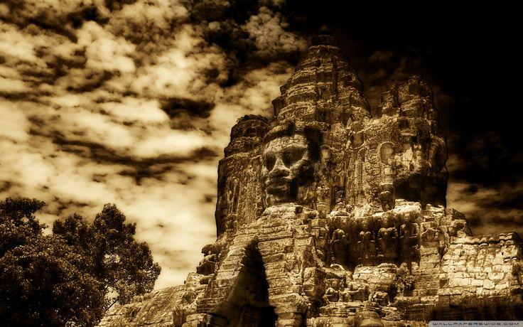 The Buddha King Of Angkor Wat Cambodia HD desktop wallpaper