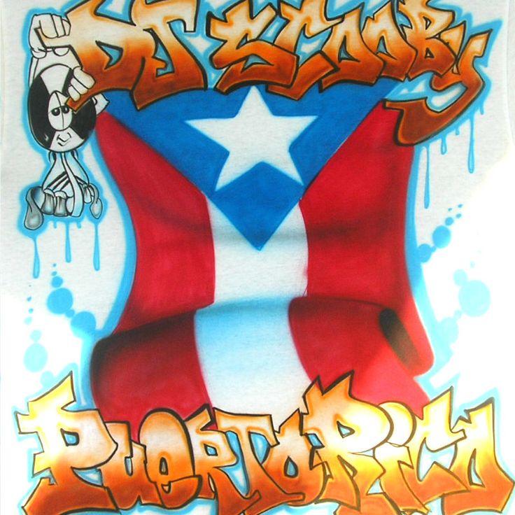 Viciouz Airbrush Designs - Puerto Rican Flag Airbrush Shirt, $20.00 (http://www.viciouzairbrush.com/puerto-rican-flag-airbrush-shirt/)